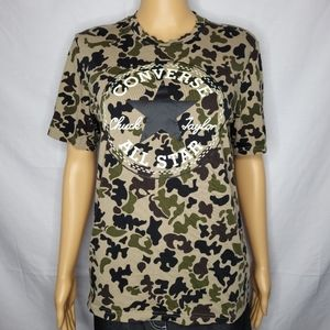 CONVERSE ALL STAR CAMOUFLAGE GRAPHIC PRINT TEE XS
